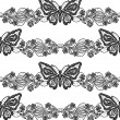 Seamless lace background with butterfly and flower ornament — Stock Photo #38229371