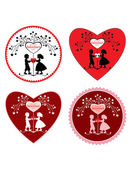 Valentine's day greeting symbols — Stock Photo