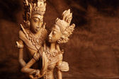 Thajská dřevěná figurka — Stock fotografie