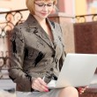 Young business woman outdoor — Stock Photo #27776869