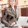 Young business woman outdoor — Stock Photo