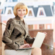 Young business woman outdoor — Stock Photo #27776911