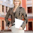 Young business woman outdoor — Stock Photo #27776959