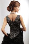 Retro stylizované mladá žena — Stock fotografie