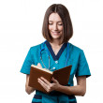Beautiful brunette woman medical worker — Stock Photo