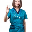 Beautiful brunette woman medical worker — Stock Photo #31025217