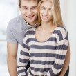 Happy young caucasian couple — Stock Photo