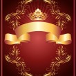 Luxurious golden ornament and crown — Stock Vector #12903957