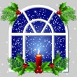 Christmas window — Vector de stock #13656072