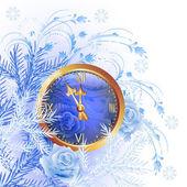 圣诞背景与编钟 — 图库矢量图片