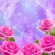 Roses and stars - Stock Photo