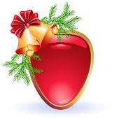 クリスマスの web ボタン — ストックベクタ