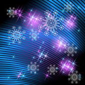 снежинки и фейерверки — Cтоковый вектор