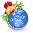 Christmas web button — Vector de stock #13993669