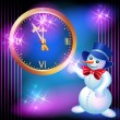 Snowman and chimes — Image vectorielle