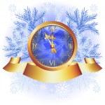 arka planda Noel çanları — Stok Vektör