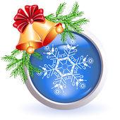 Kerstmis web knop — Stockvector