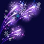 Sneeuwvlokken en salute — Stockvector
