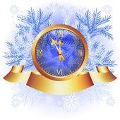Fondo de navidad con campanillas — Vector de stock