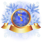 チャイム付きクリスマス背景 — ストックベクタ