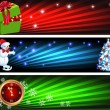 Christmas banners — Stockfoto