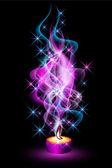 Brandende kaars — Stockvector
