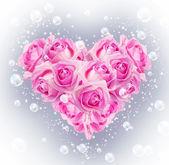 Coração de rosas — Foto Stock