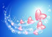 放飞心中和泡沫 — 图库矢量图片