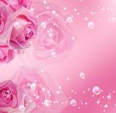 Rosas e bolhas — Foto Stock