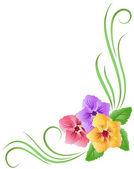 Ornamento floral — Vector de stock