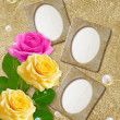 Stock Photo: Photo frame with roses