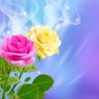 Pink and yellow roses — Stock Photo #21870993