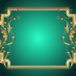 Background with golden ornament — Stockvectorbeeld