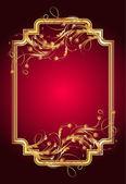 Tło z złotym ornamentem — Wektor stockowy