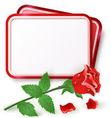 Card with red rose — Stock Vector
