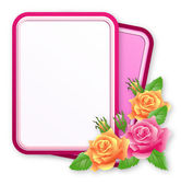 Greeting card with roses — Stock Vector