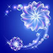 цветы и пузыри — Cтоковый вектор