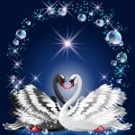Elegant white and black swan — Stock Vector #26906899
