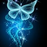 Rauch und Schmetterling — Stockvektor