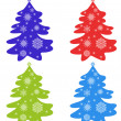 Set of fir-tree — Imagen vectorial