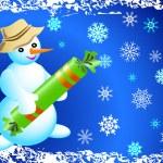 Christmas card with Snowman — Stock Vector #29547067