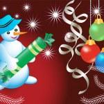 Christmas card with snowmen — Stock Vector #29547069