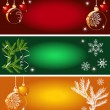 Stock Vector: Set of vector Christmas backgrounds