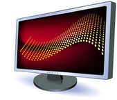 Digital display with abstract desktop — Vector de stock