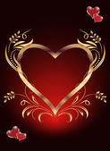 Card with decorative heart — Stock Vector