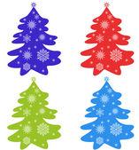 Set of fir-tree — Stock Vector