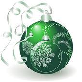 Glänzend grünen christmas ball — Stockvektor