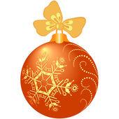 Shiny orange christmas ball — Stock Vector