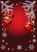 Bolas de natal vermelhas brilhantes — Vetorial Stock