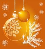 光沢のある黄色のクリスマス ボール — ストックベクタ